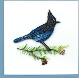 Quilling Card Steller's Jay Greeting Card
