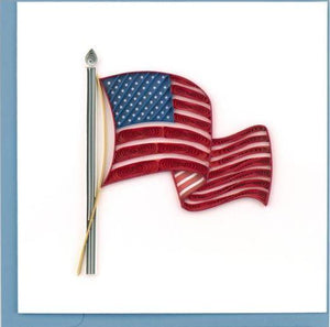 Quilling Card American Flag Greeting Card