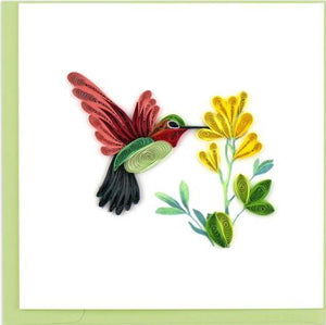 Quilling Card Hummingbird Greeting Card