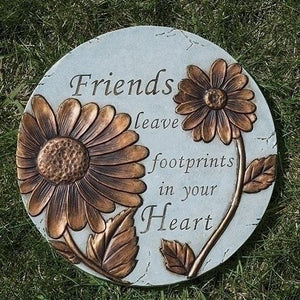 "9""H FRIENDS LEAVE FOOTPRINTS Garden Stone"