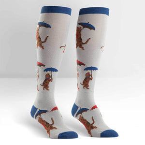 It's Raining Cats Funky Knee High Socks
