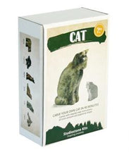 Load image into Gallery viewer, Cat Soapstone Carving Kit