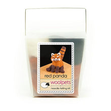 Load image into Gallery viewer, Red Panda Intermediate Level Wool Needle Felting Craft Kit by WoolPets