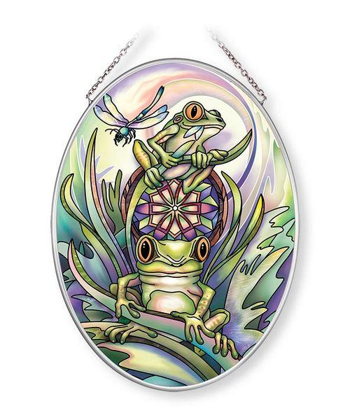 Jody Bergsma Don't Worry Be Happy Medium Oval Sun Catcher
