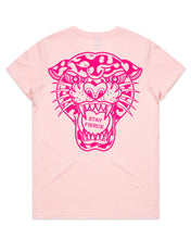 Load image into Gallery viewer, Cluster Fuss x FTLOV Collaboration - Stay Fierce Leopard Cat Candy Heart T-Shirt