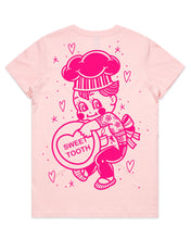 Load image into Gallery viewer, Sweet Tooth Kewpie Baker Candy Heart T-Shirt - Cluster Fuss x FTLOV Collaboration
