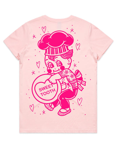 Cluster Fuss x FTLOV Collaboration - Sweet Tooth Kewpie Baker Candy Heart T-Shirt