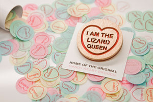 The Simpsons Candy Heart Brooch - I Am The Lizard Queen