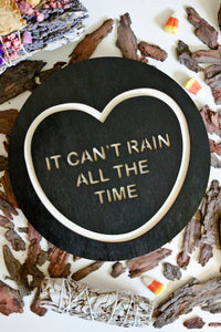 Halloween The Crow Candy Heart Wall Hanging - It Can't Rain All The Time
