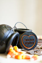 Load image into Gallery viewer, Halloween Candy Heart Brooch - Hocus Pocus