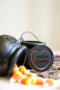 Halloween Candy Heart Brooch - Hocus Pocus