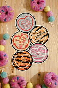 Tiger King Netflix Candy Heart Sticker Set - 5 Piece
