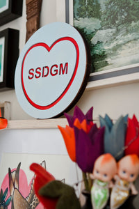 My Favorite Murder Candy Heart Wall Hanging - SSDGM