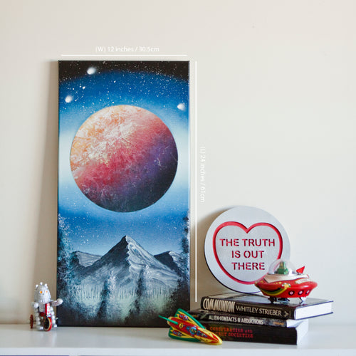 Supernova Spray Art - Planet Canvas #1