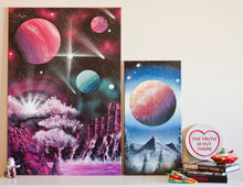 Load image into Gallery viewer, Supernova Spray Art - Planet Canvas #6