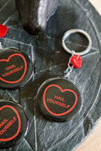 Load image into Gallery viewer, LPOTL Candy Heart Keyring/Keychain - Hail Yourself