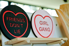 Load image into Gallery viewer, Stranger Things Candy Heart Wall Hanging - Friends Don't Lie