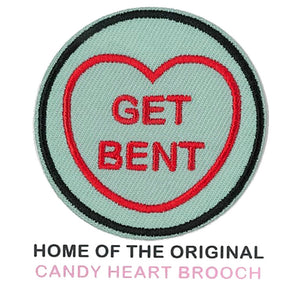 The Simpsons Candy Heart Patch - Get Bent