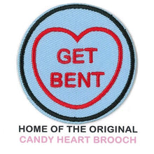 Load image into Gallery viewer, The Simpsons Candy Heart Patch - Get Bent