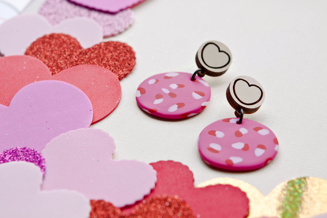 FTLOV X PJ COLLABORATION Candy Heart Statement Earrings Range