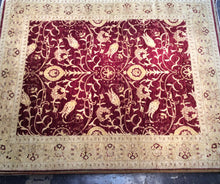 Load image into Gallery viewer, Oriental 8 x 10 Red, Beige Rug #25455