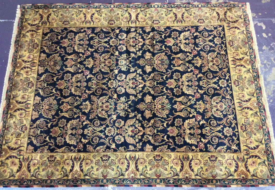Traditional 9 x 12 Blue, Gold Rug #1481