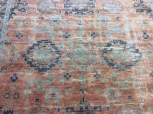 Traditional 9 x 11'7 Gold Rug #19517