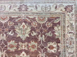 Traditional 6 x 9 Brown, Ivory Rug #60903