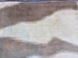 Contemporary 6 x 9 Beige Discount Rug #39140