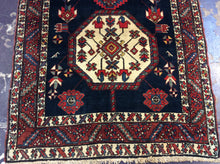 Load image into Gallery viewer, Traditional 3'5 x 15'6 Blue Rug #69832