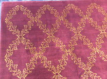 Load image into Gallery viewer, Contemporary 9 x 12 Purple Rug #41461