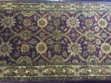 Load image into Gallery viewer, Traditional 3 x 10 Purple Rug #11395