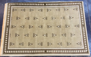 Contemporary 6 x 9 Beige Discount Rug #50644