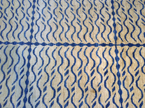 Contemporary 5 x 8 Ivory, Blue Rug #17440