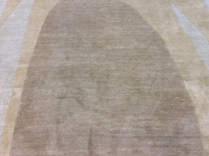 Contemporary 8 x 12 Beige Discount Rug #38786