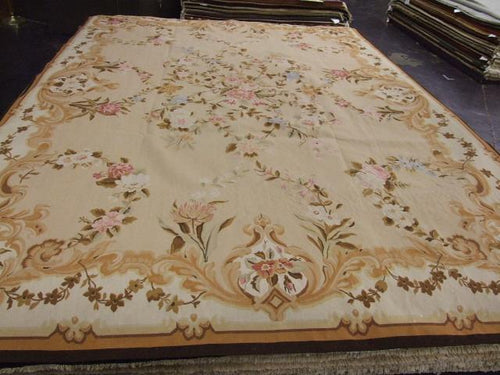 Tapestry 9 x 12 Brown, Ivory Rug #1354