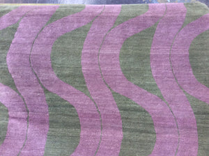 Contemporary 8 x 8 Purple Discount Rug #50838