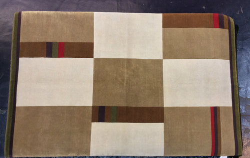 Contemporary 8 x 11 Beige Ivory Discount Rug #50014