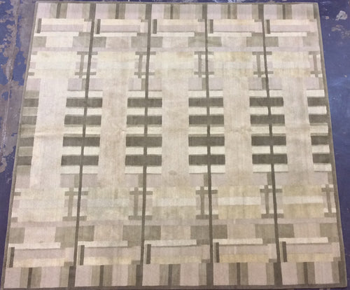 Contemporary 8 x 8 Beige Discount Rug #51147