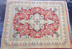 Traditional 8 x 10 Red, Beige Rug #53001