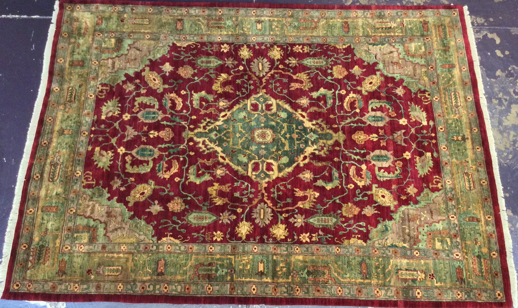 Oriental 9 x 12 Red, Gold Rug #4765