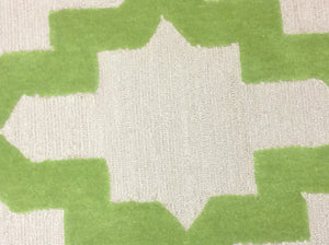 2 x 3 India Contemporary Green Ivory #68555