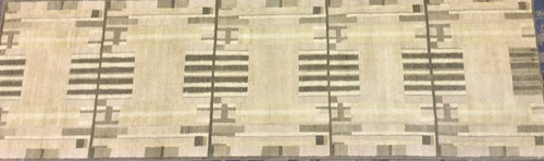 Contemporary 3 x 10 Beige Discount Rug #51175