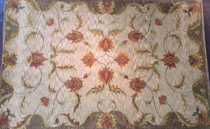 Contemporary 6 x 9 Beige Discount Rug #39139