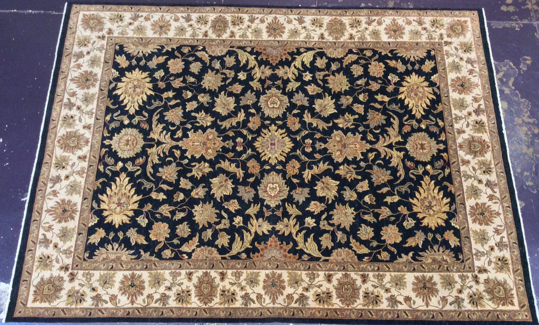 Traditional 9 x 12 Black, Ivory Rug #40903