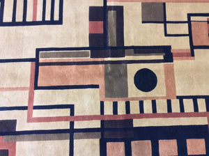 Contemporary 5 x 8 Gold Discount Rug #20193