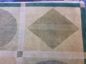 Contemporary 6 x 9 Beige Discount Rug #50750