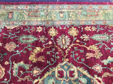 Load image into Gallery viewer, Oriental 9 x 12 Red, Gold Rug #4765