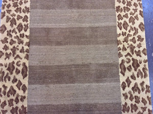 Contemporary 3 x 8 Gold Discount Rug #9410