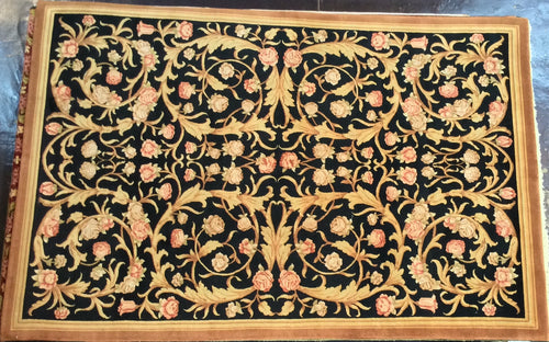 Oriental 9 x 12 Brown, Black Rug #50690
